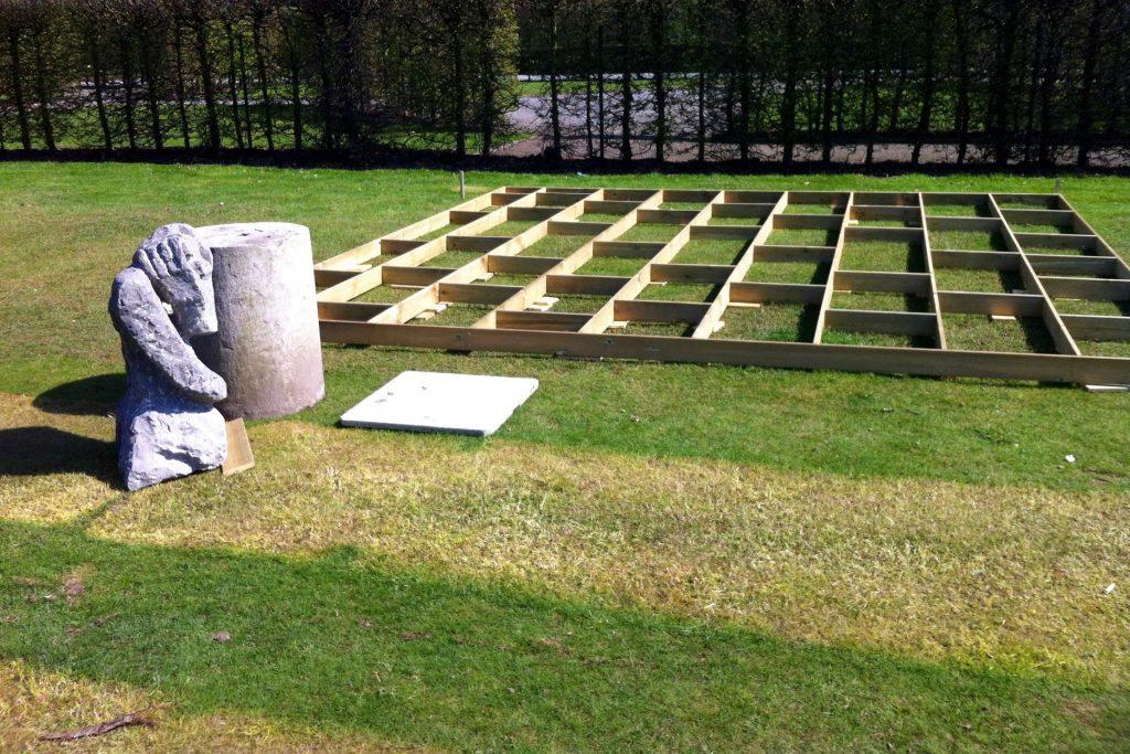 Middelheim Antwerpen  Expo 'Clusters' Peter Rogiers Volledige op- en afbouw, art handling, realisatie tentoonstelling door Helix bvba.