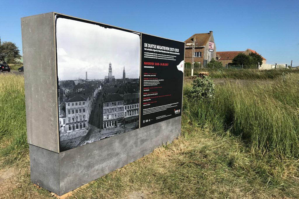 Project: De Duitse Negatieven , 2017 Opdrachtgever: Provinciaal Domein Raversyde, Oostende Ontwerp: Pieter Boons/Heimat, realisatie en opbouw : HELIX BVBA